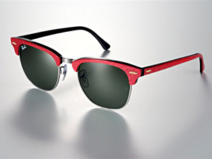 ray ban clubmaster schwarz rot