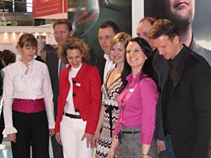 Call Cécile: Sabine Schimsa, Guido Buchwald, Daniela Grumbach, Peter Schwind, Jessica Kastropp,  Prof. Wolfgang Sickenberger, Katja Lenditsch und Fredi Bobic