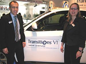Dirk Beckmann und  PR-Frontfrau Yasmin Soldierer