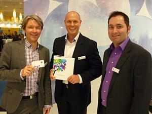 Jens-Dominic Zeeck, Dr. Richard Fröhlich  und Hans-Peter Zöchling beim Launch der  neuen Biofinity® multifocal