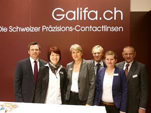 Das Galifa opti '12 Team: Heinrich Müller,  Nora Bretschneider, Ursula Fischer-Sterl,  Christian Krüsi, Friederike Stets und Michl Stoiber