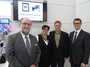 Geschäftsführer Martin Himmelbach (IPRO), Marion Götz (IPRO Marketing), Jörg Tischer und Dr. Heiko Pult