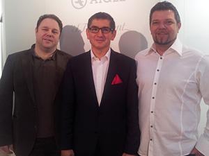 Günther Höfer (POLARIZED.AT),  Thomas Akiyama (GF AOYAMA) und  Robert Prodinger (POLARIZED.AT)