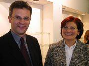 """Mag. Johann Pürmayr und Helga Bernardi """"zarte und randlose Brillen"""""""