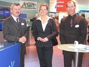 Franz Schöffmann (AMO), Melanie Hinckel (Freudl & Friends) und Frank Skowronek (AMO)