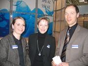 Tanja Kutscheidt, Ulrike Mehls und Frank Lautenbach von SEIKO
