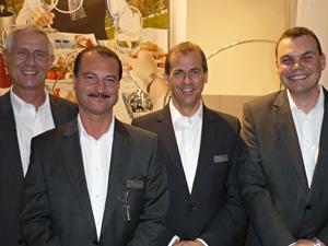 Thomas Beier, Rainer Augsten,  Marcus Wecht und Andreas Schartner