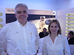 Vertriebsleiter Werner Brunbauer  mit Marketingassistentin Bianca Becker