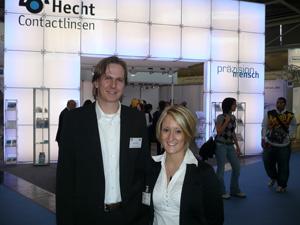 Mario Rehnert mit Sandra Kössler setzen  auf individualisierte Kontaktlinsen
