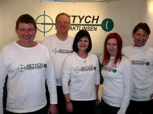 Die Hetych Company: Herbert Hetych,  Leopold Wunsch, Carola Cepf,  Elisabeth Hetych und Gerhard Hetych