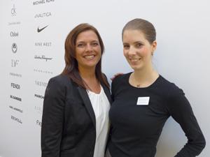 Barbara Haider-Siebenhandl und Kristina Vieldorf:  Markenpräsentationen auf interaktiven iPad Stationen