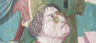 Historische Brillenabbildung in Bozen um 1485 von Conrad Waider