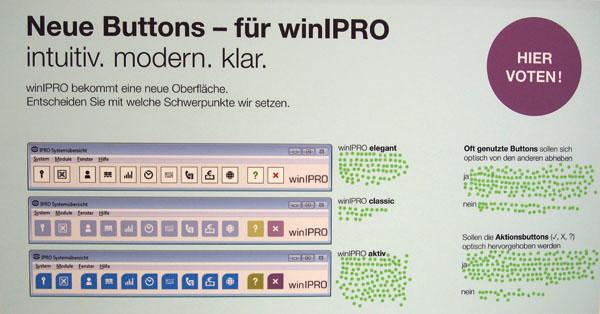 Voting für die Funktionsbuttons der mit Spannung erwarteten neuen Version winIPRO 8.0