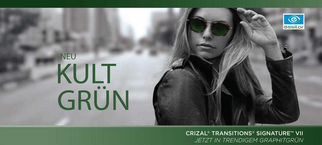 Crizal Transitions Kult Grün
