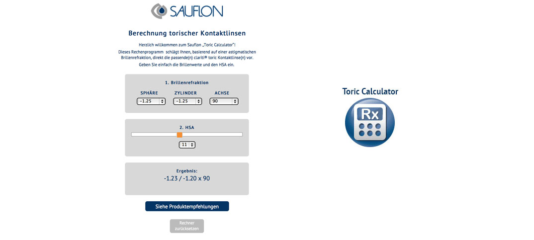 Sauflon Toric Calculator