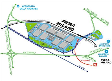 Karte Fieramilano