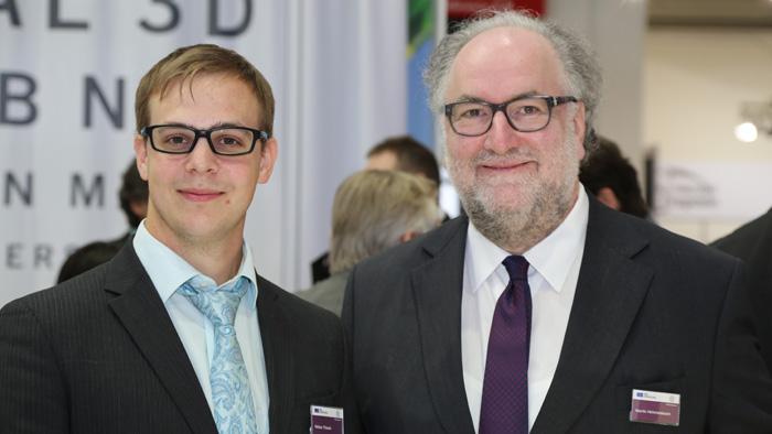 OPTI 2015 IPRO: Niklas Thiede (Sales Consultant) und Martin Himmelsbach (Geschäftsführer)