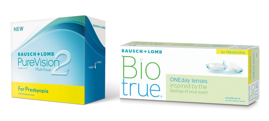 Purevision2 For Presbyopia und Biotrue ONEday for Presbyopia