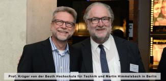Prof. Krüger von der Beuth Hochschule für Technik (li.) und Martin Himmelsbach in Berlin