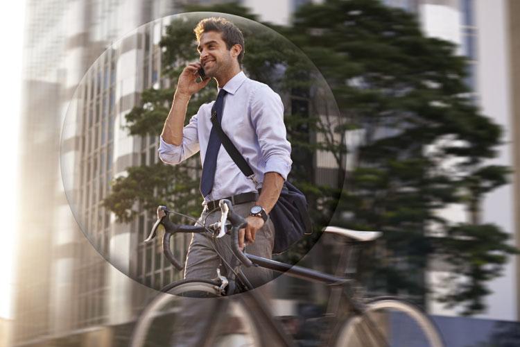 Cooper Vision Radfahrer Stadt