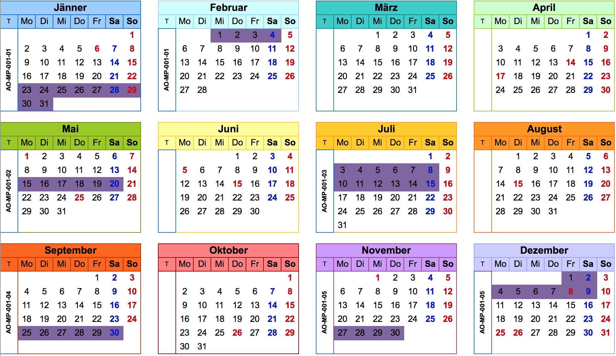Vorbereitungslehrgang Augenoptikermeister Kalender 2017