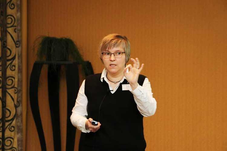 Prof. Dr. Stephanie Jainta gab faszinierende Einblicke in die Erforschung von Blickbewegungen