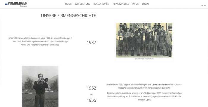 Pomberger Firmengeschichte