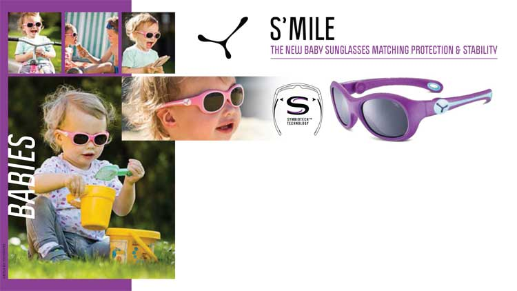 S'MILE – THE NEW BABY SUNGLASSES MATCHING PROTECTION & STABILITY