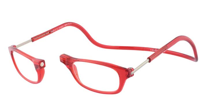 CliC Lesebrillen zeichnen sich allesamt durch einen patentierten Magnetverschluss-Mechanismus im Brückenteil zwischen den beiden eingefassten Brillengläsern aus
