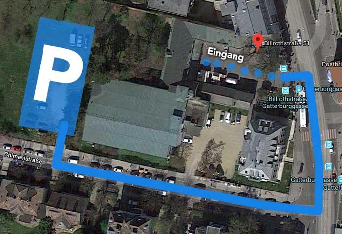 Anfahrt und Parkplatz