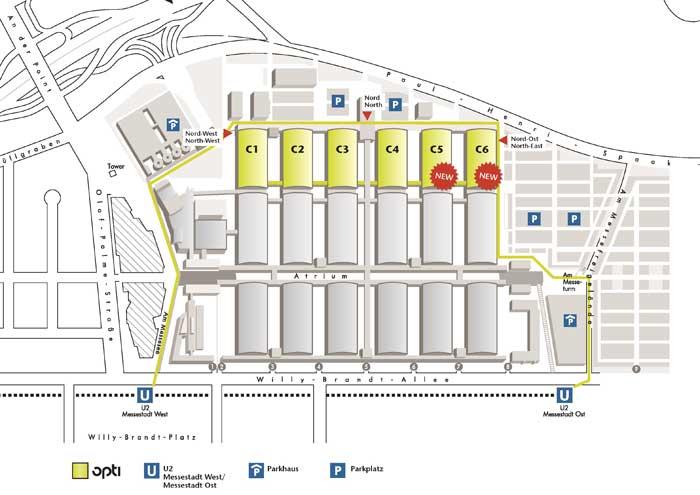 Eingang Nord-Ost als zusätzliche Alternative für Besucher