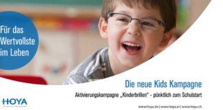 Neu von Hoya: Werbematerial zum Thema Kinderbrillen