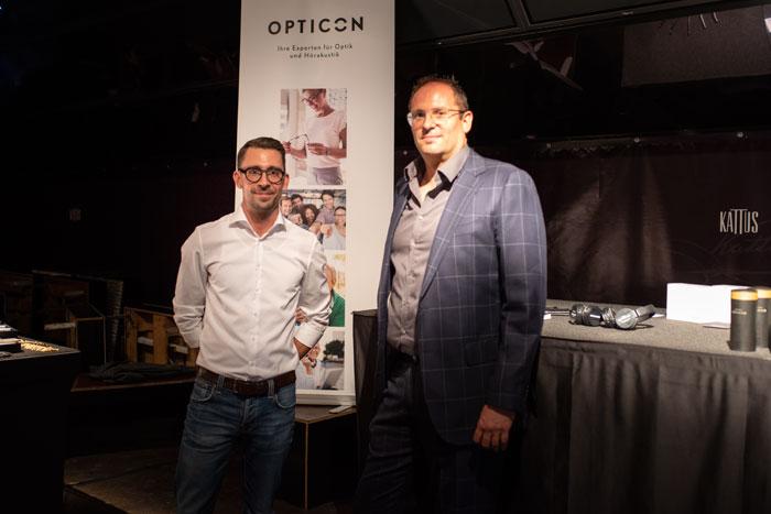 Martin Decker, Geschäftsführer der 200 Standorte zählenden Einkaufsgruppe OPTICON freute sich am Optikplausch über Kontakt zu den Mitgliedern und zur Branche