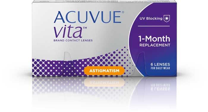 Mit der neuen torischen Monatslinse ACUVUE® VITA™ for ASTIGMATISM und dem Pflegemittel COMPLETE RevitaLens® MPDS werden ihre Seh- und Komfortansprüche jetzt optimal erfüllt
