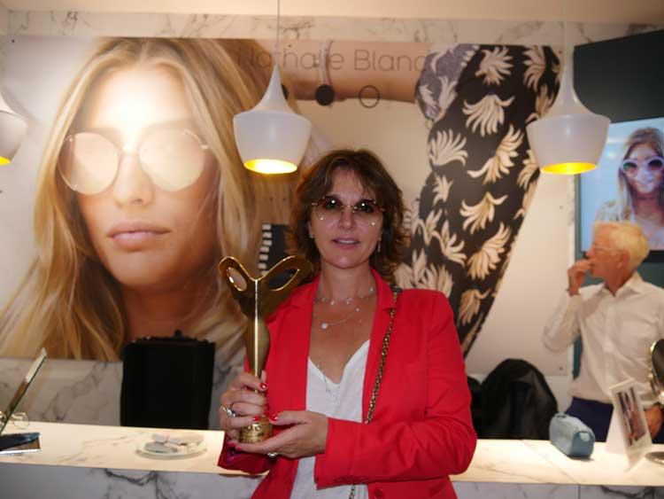 Die Pariserin Nathalie Blanc wurde für ihr Zeitgenössisches, klassisches Brillendesign geehrt