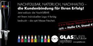 GLASKLAR – die Messe-Neuheiten zur opti 2019