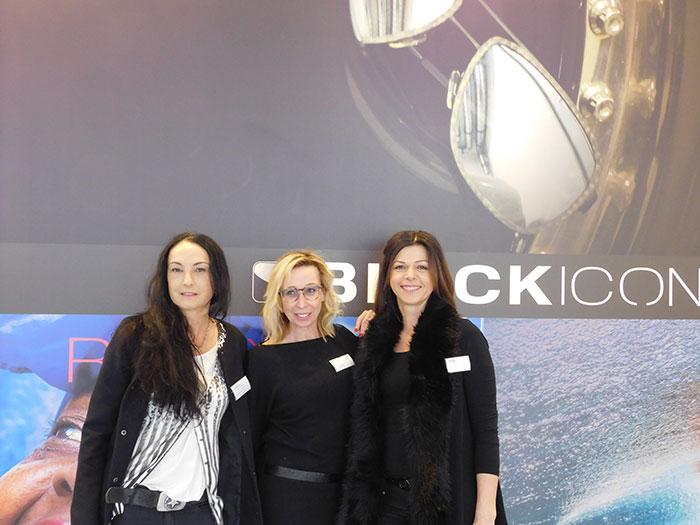 Sandra Englmaier (Marketing & Produktentwicklung), Tina Handlechner (Außendienst Österreich) und Rabea Fischer (Produktentwicklung)