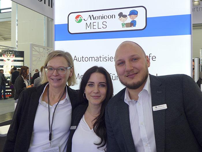 Marketingleiterin Ellen Fries mit dem ÖsterreichAußendienst-TeamMelanie Köckenbauer und Manfred Margreiter