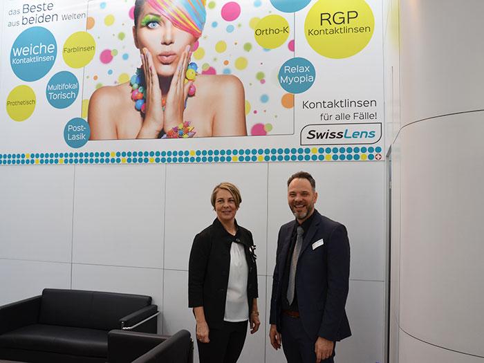 Dipl.-Ing.(FH) Julia Elhariri, Verkaufsleiterin Deutschland und Pascal Blaser MSc, Sales, Marketing und Produkt Manager