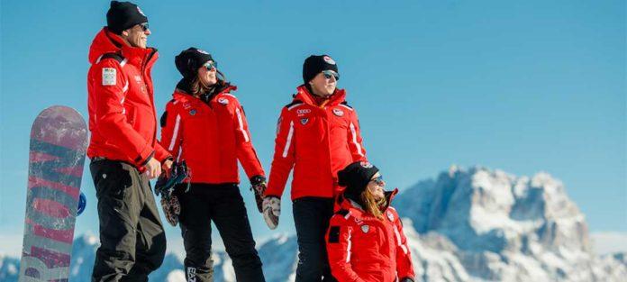 Zusammenarbeit zwischen Barberini und der Skischule Cortina