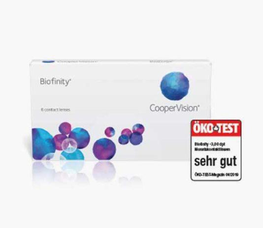 ÖKO-TEST bewertet Biofinity von CooperVision mit sehr gut