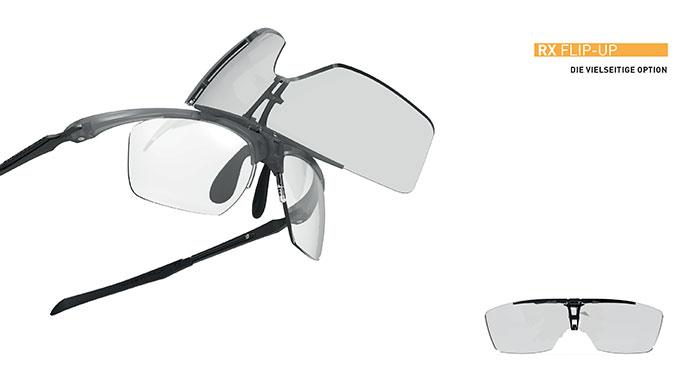 Flip Up ermöglicht ein schnelles Montieren oder Abnehmen Hinzufügen der Frontgläser über Korrektionsgläser