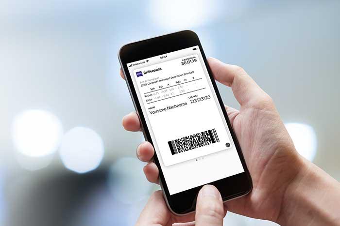 Der Konsument erhält über die auf der Karte vermerkten Daten hinaus weitere Informationen zu den gekauften Brillengläsern