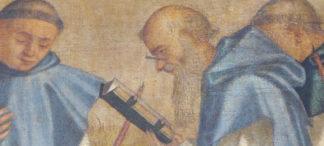 Historische Brillenabbildung in Vittore Carpaccio's Tod des heiligen Hieronymus