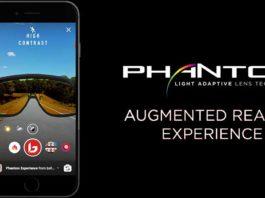 Augmented-Reality-Sonnenbrillenerlebnis für Smartphones