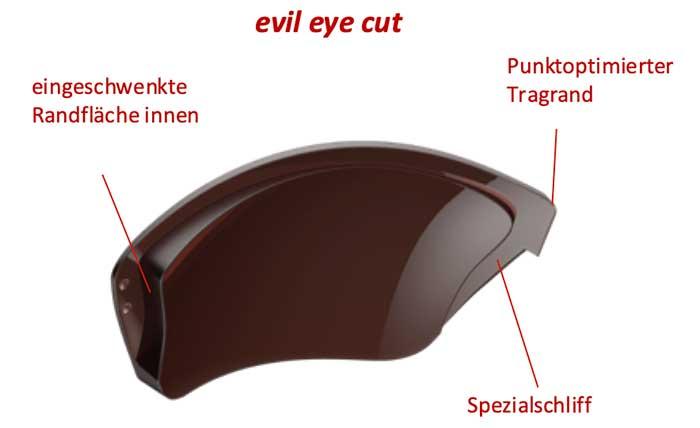 'evil eye cut' Glasrandbearbeitung