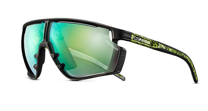 Durch die Integration der Technologie Activelook von Microleed ist die EVAD-1 in der Lage, direkt auf der Brille Leistungsdaten des Sportlers anzuzeigen