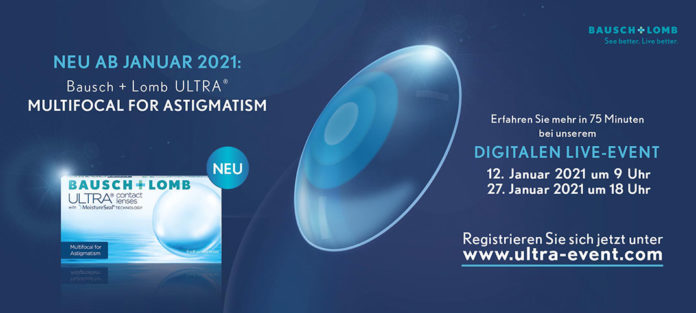 NEU ab Januar 2021! Bausch+Lomb ULTRA® Multifocal for Astigmatism