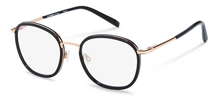 """Brille mit Key-Piece-Status aus der """"Signature""""-Serie mit einem Mix aus veredeltem Titan und High-Performance-RXP®-Kunststoff von Rodenstock. Modell R7114B."""