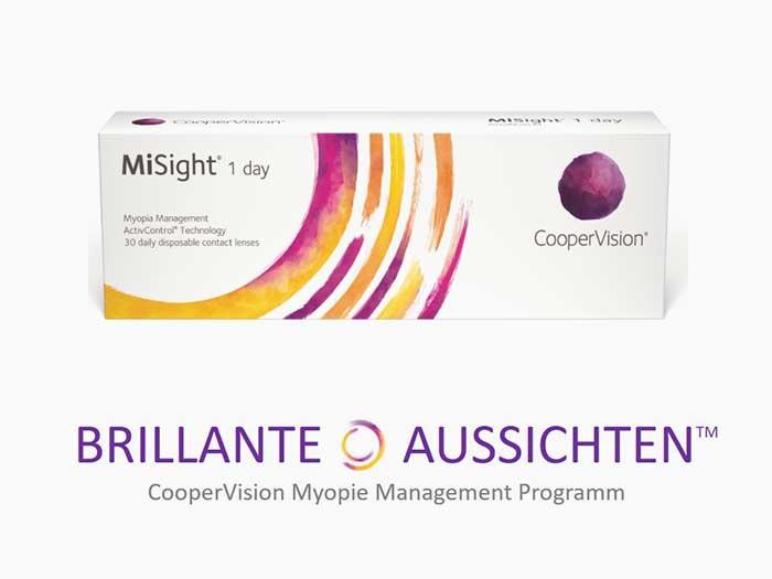 CooperVision bietet mit der mit MiSight® 1 day Einmalkontaktlinse einen neuen Weg desMyopie Managements.